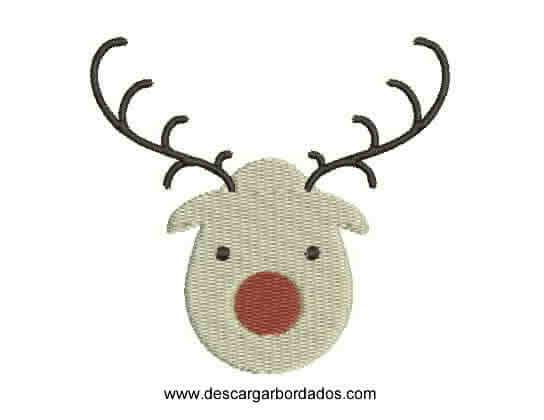Lindo Bordado Reno de Navidad Listo Para Bordar