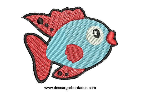 Bordados de peces para Bordar en Máquina