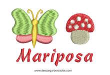Bordado de Mariposa Infantil para bordar