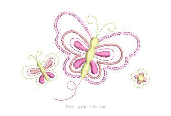 Descargar Bordado de Mariposas