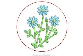 Diseño Bordado de Flores para Bordar Gratis