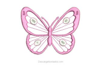 Bonito diseño bordado de Mariposa