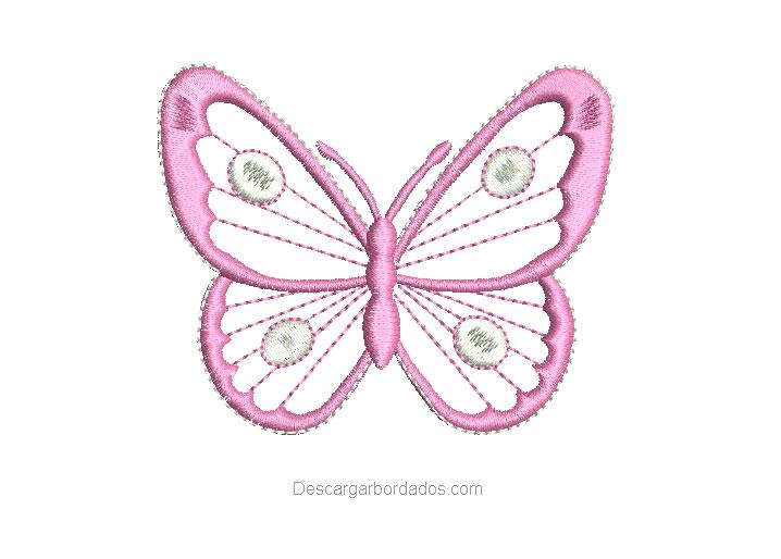 Bonito bordado de mariposa