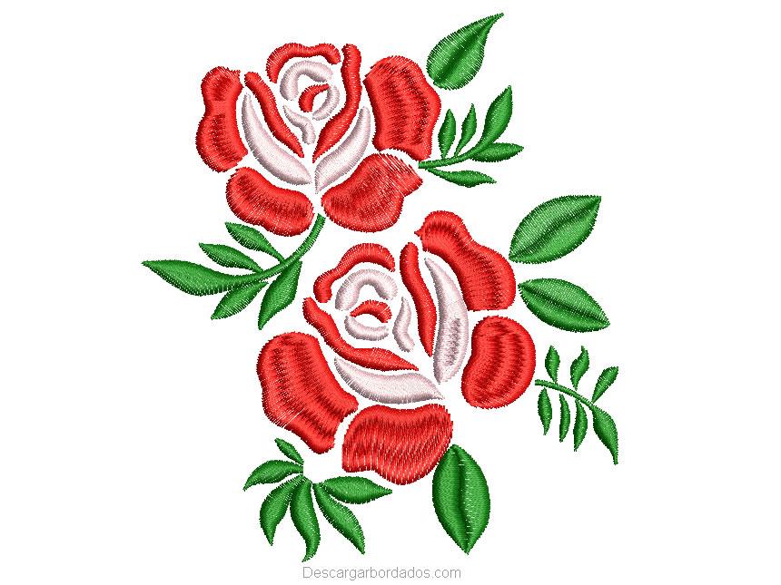 Diseño bordado de Rosas
