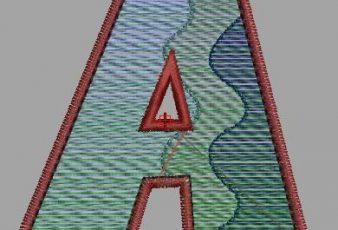 Descargar Diseño Bordado de la Letra A