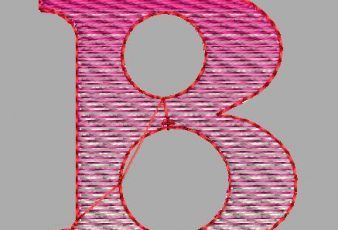 Descargar Diseño Bordado de la letra B