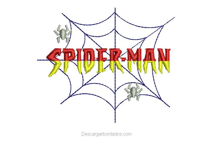 Diseño Bordado de letra Spider-Man