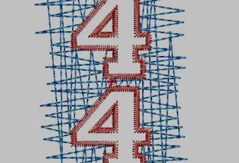 Descargar Diseño Bordado de Números para Maquina