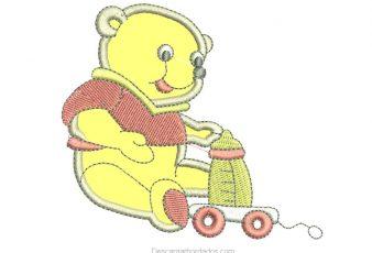 Diseño Bordados de oso con Aplicación
