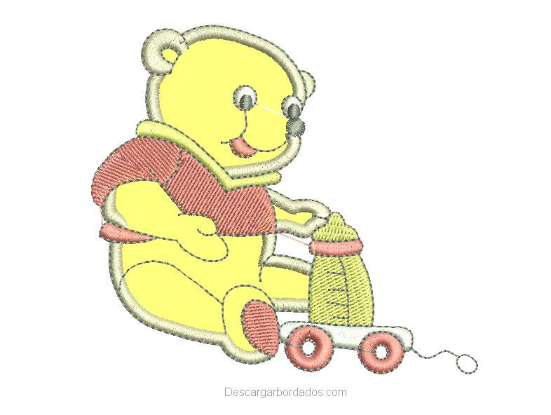Bordado de oso con aplicación