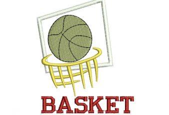 Diseño Bordado de Basket