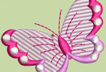 Descargar Bordado de Mariposas para Bebes