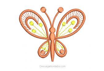 Bordados de Mariposas con flores