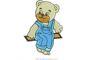 diseño bordado de oso para bordar