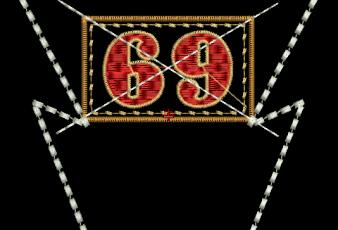 Descargar diseño bordado número 69 para bordar
