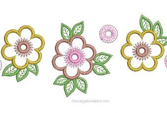 Diseño bordado de Flores para bordar