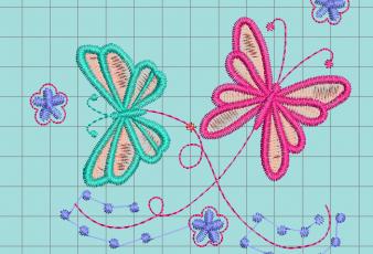 Descargar Bordados de dos Mariposas