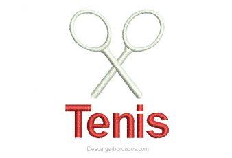 Diseño bordado de tenis