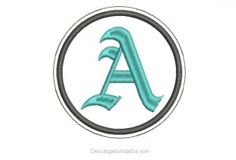 Diseño Bordado letra A en Fuente Gótica Gratis