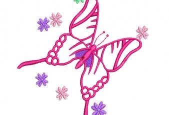 Descargar Lindo Diseño Bordado de Mariposa