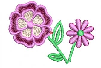 Descargar Diseño Bordado de Rosa para Bebes
