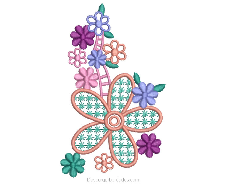 Picaje de Bordado Flores para bordar