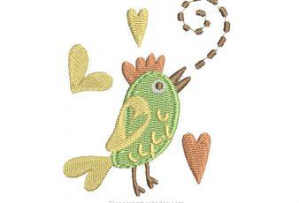 Descargar Lindo Bordado de Animales: El gallo