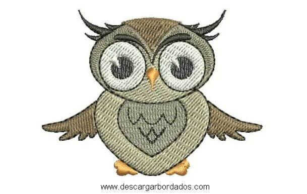 Diseños bordado de Búho