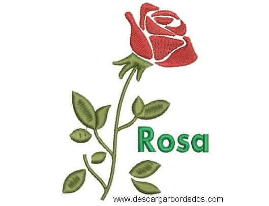 Diseños Bordado de Rosas con Letra