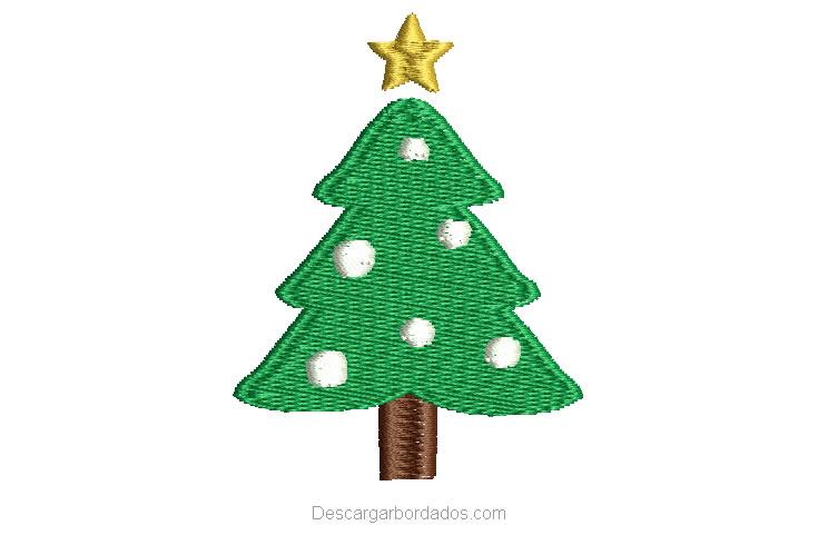 Bordado de árbol de navidad listo para bordar