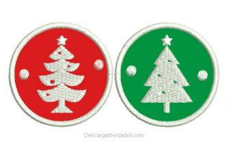 Bordado Sticker de Navidad y Año Nuevo con Aplicación