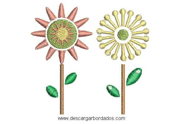 Diseños Matrices de Flores para Bordar en Maquina