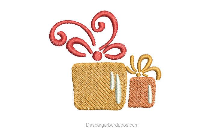 Bordado de regalo de Navidad