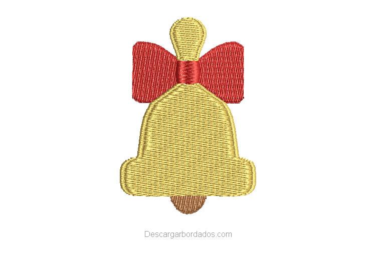 Diseño Bordado de campana de Navidad