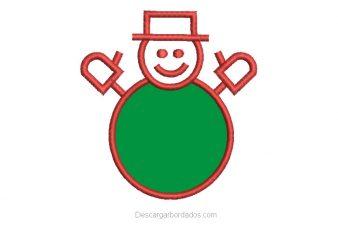 Bordado de Muñeco de Nieve para Navidad