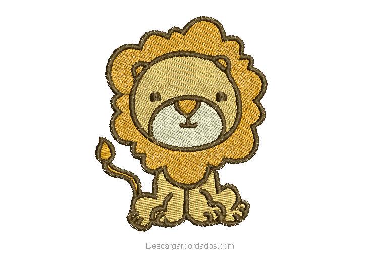 Diseño bordado de león