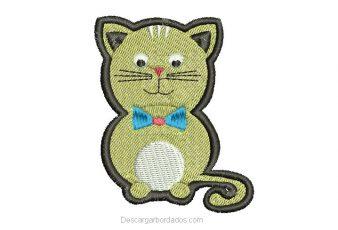 Diseño Bordado de Gato Listo para bordar
