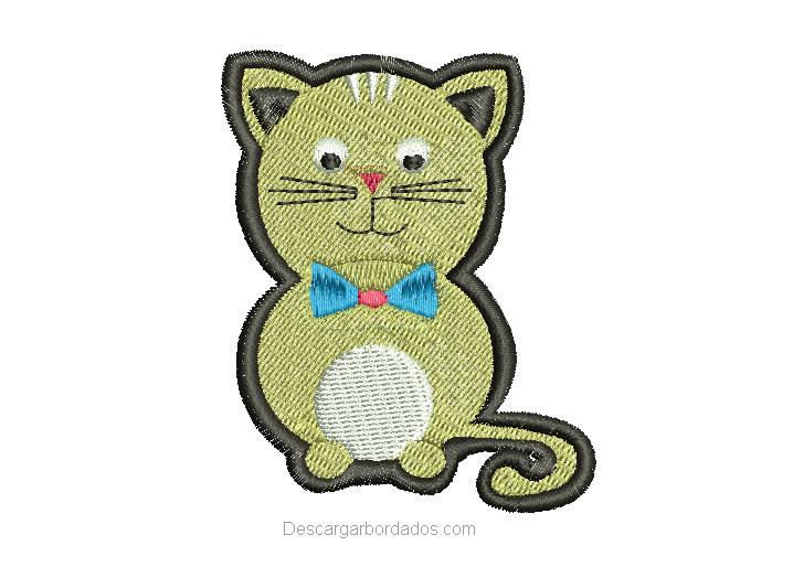 Diseño bordado de gato