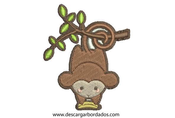 Diseño Bordados de Mono para Descargar