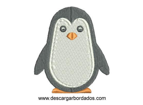 Diseño bordado de pingüino para Bordar