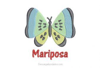 Diseño Bordado de Mariposa Infantil