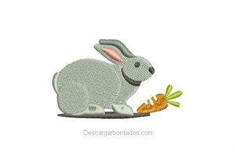 Diseño Bordado de Conejo para Bordar gratis