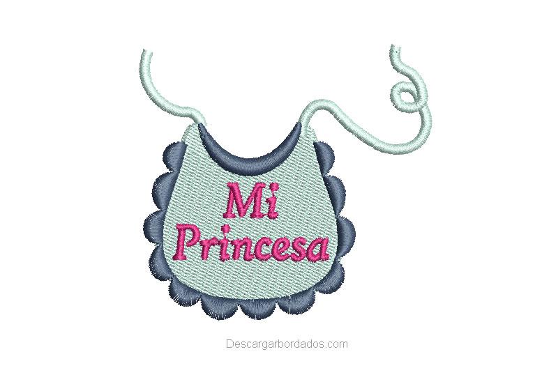 Diseño Bordado de babero de bebé para bordar