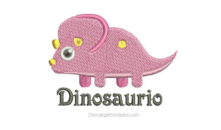 Lindo Diseño Bordado de Dinosaurio