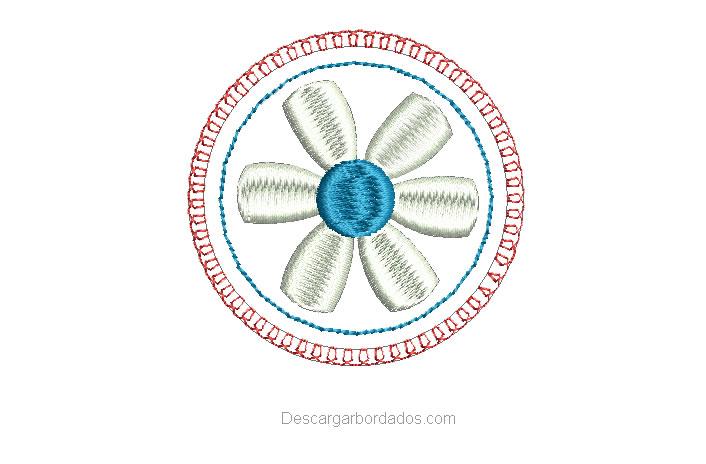 diseños bordados de flores con borde