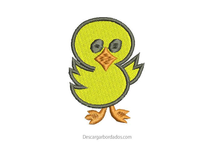 Diseño bordado de pato para Bordar
