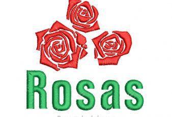 Descargar Diseño Bordado de Rosas para Bordar