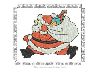 Diseño de Picaje Papa Noel para Navidad