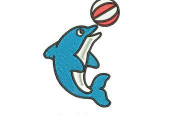 Diseño Bordado: Delfin con pelota