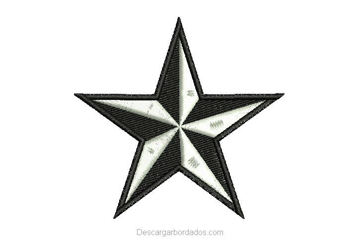 Diseño Bordado de Estrella Gratis